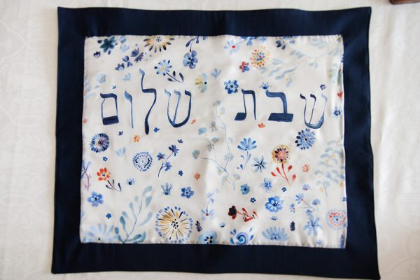 hand-painted challah cover