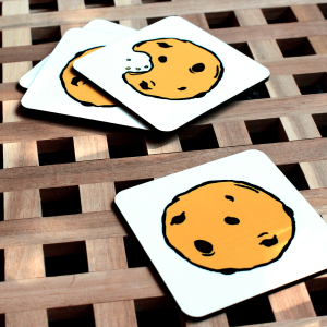 Set of Four Cookie Coasters