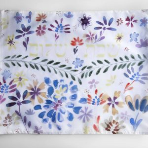 Flowers challah cover